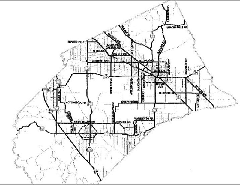 Figure 1 RTIF Road Network
