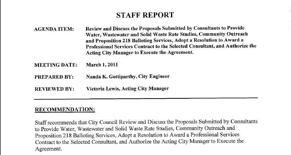 Staff Report 1