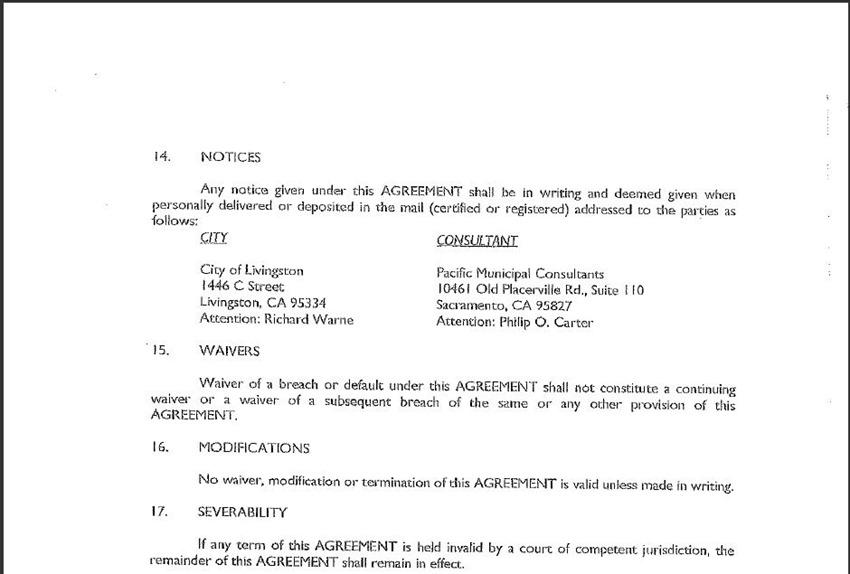 Contract Amendment 23