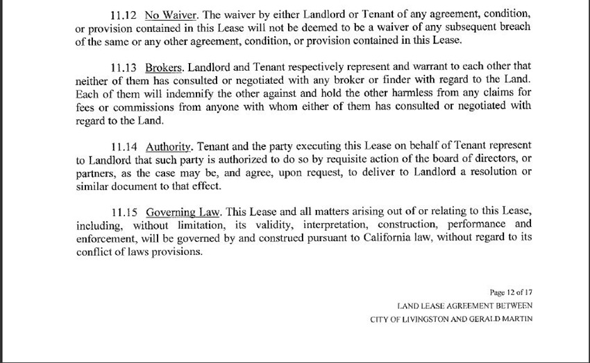 Land Lease Agreement 30