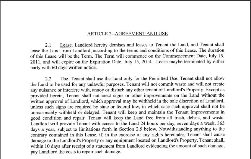 Land Lease Agreement 9