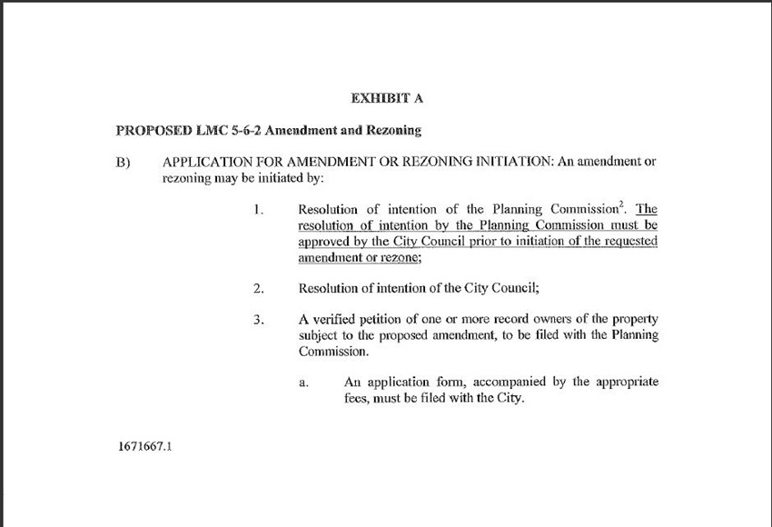 Amendments and ReZoning 15