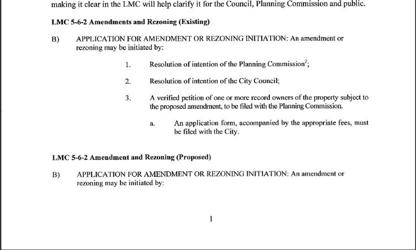 Amendments and ReZoning 2