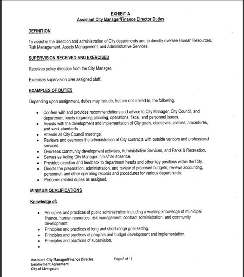 Assist City Manager Contract 12