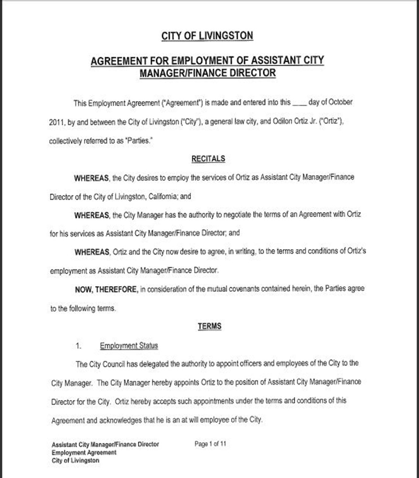 Assist City Manager Contract 5