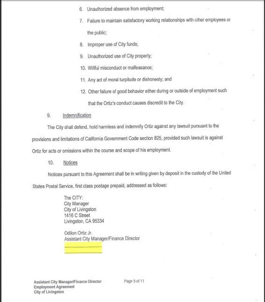 Assist City Manager Contract 9