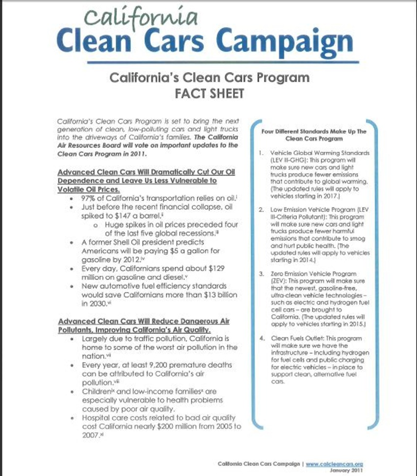 California Clean Cars Campaign 17
