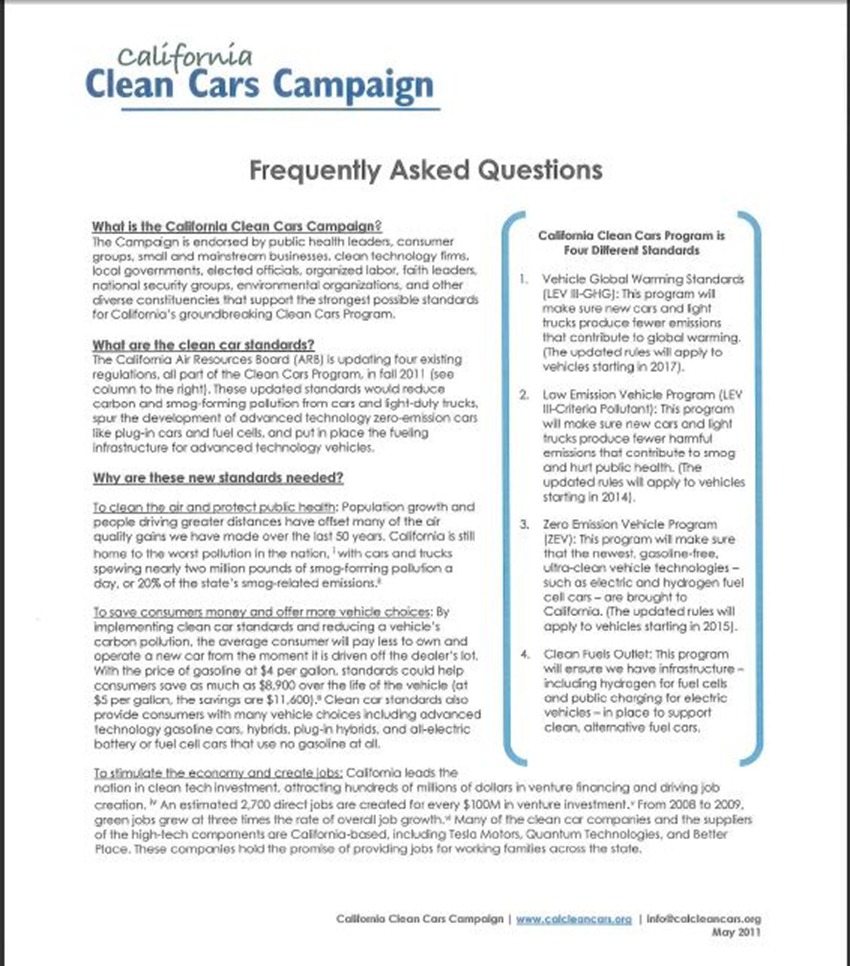California Clean Cars Campaign 19