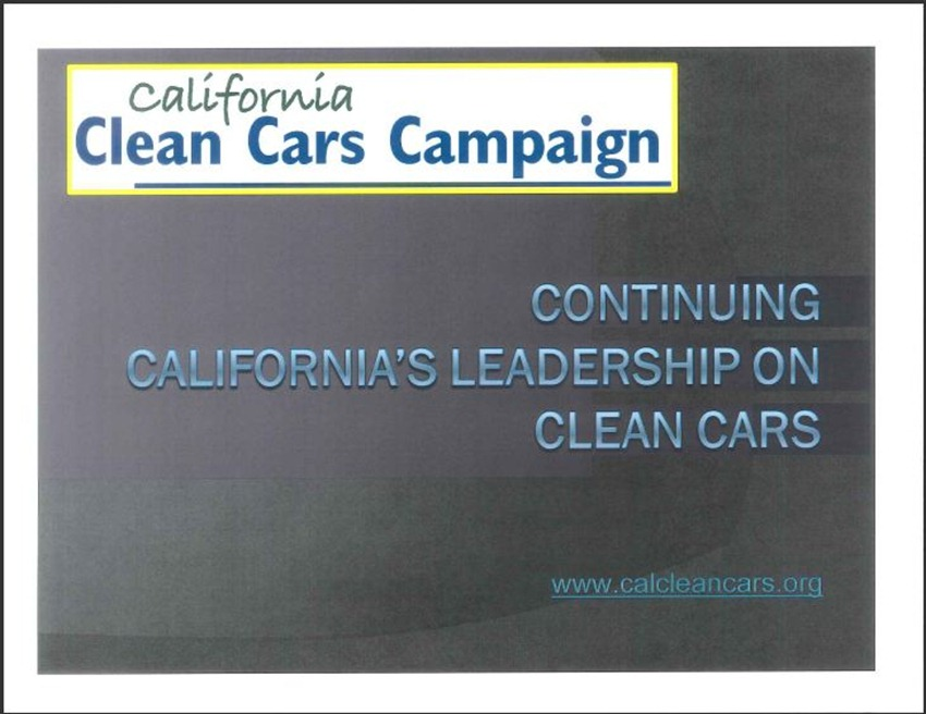 California Clean Cars Campaign 1