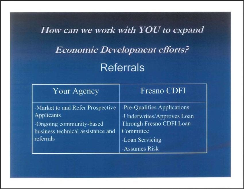 Fresno Community Development Financial Institution 10