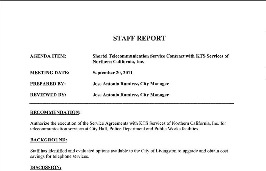 KTS Contract 1