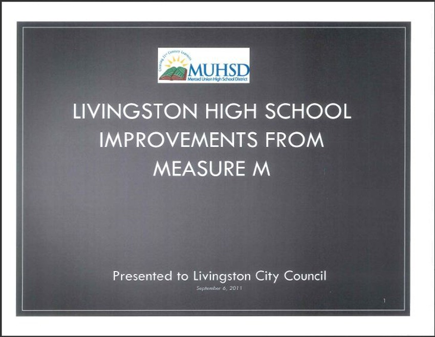 Livingston High School Measure M Improvements 1