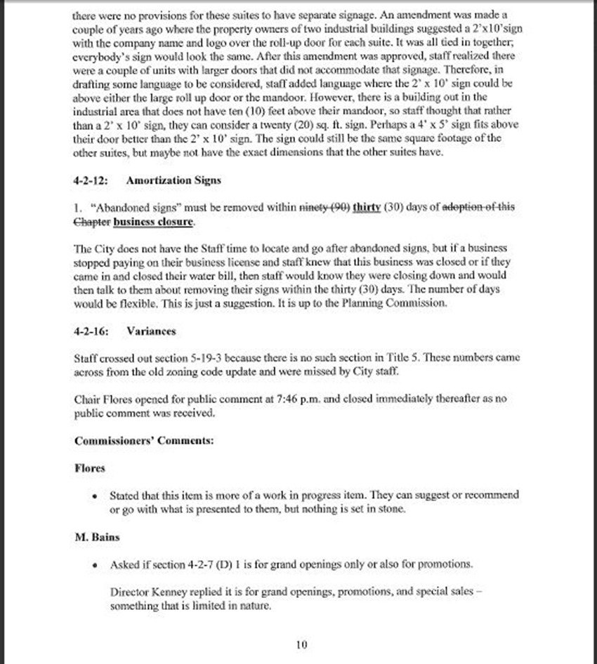 Draft Minutes Page 10