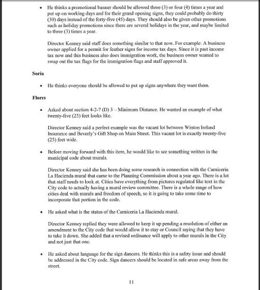 Draft Minutes Page 11