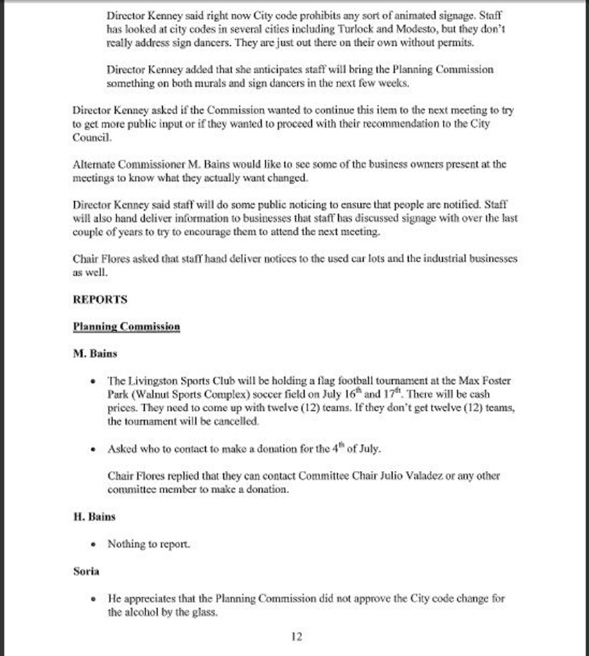 Draft Minutes Page 12