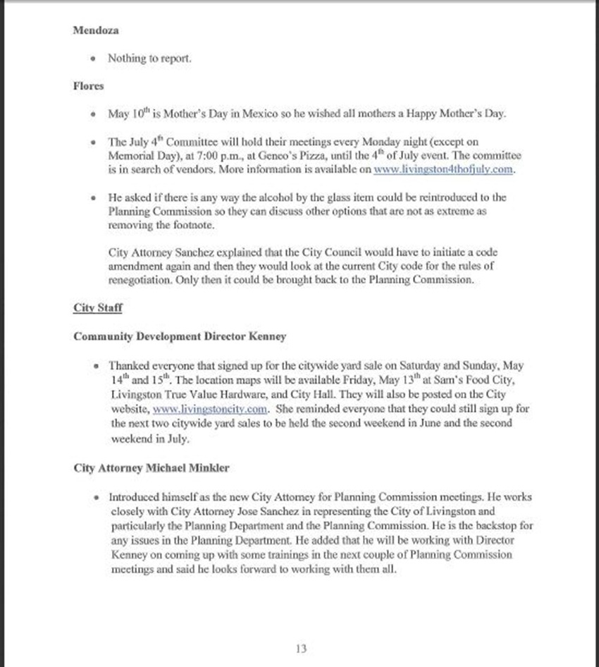 Draft Minutes Page 13
