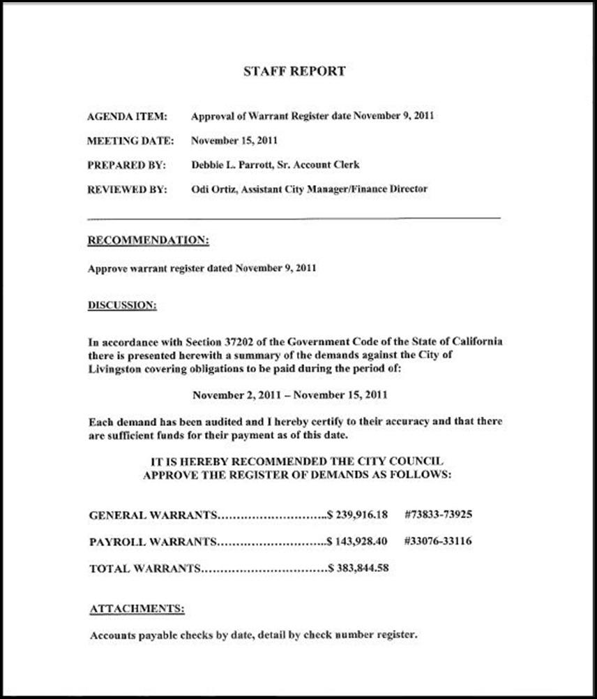 A Staff Report 1