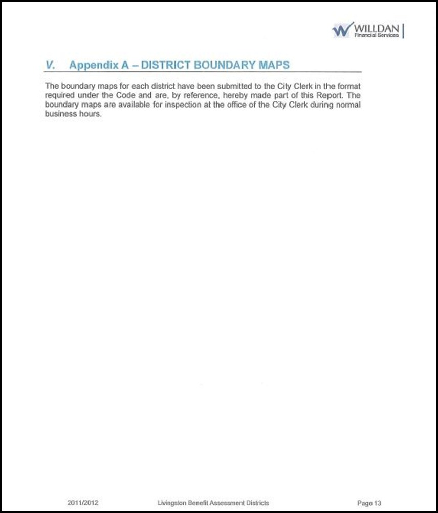 Benefit Assessment District Page 5 - 13