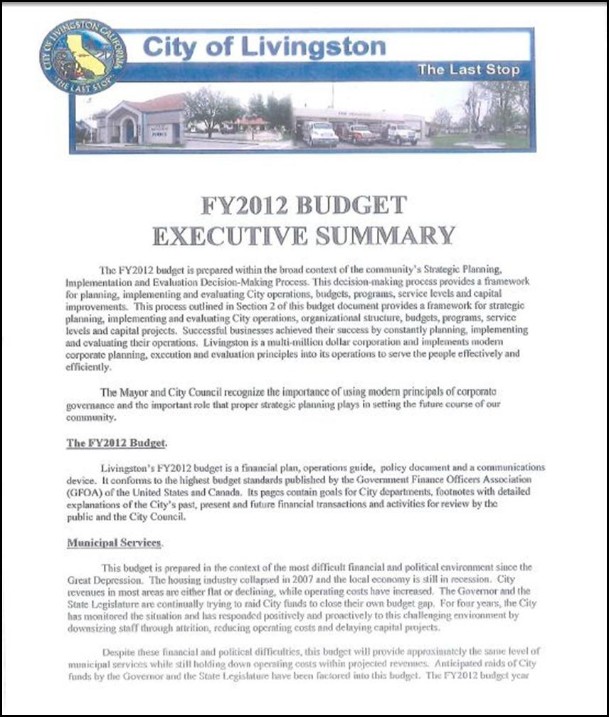 Budget Summary 1