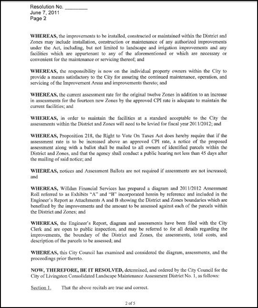 Landscape and Lighting Maintenance Assessment District  Page 3 - 2