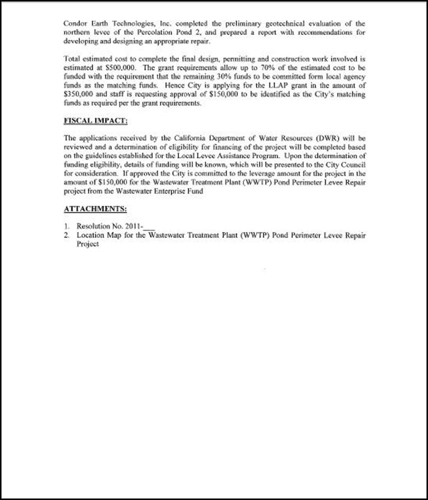 Levee Assistance Program (LLAP) 2