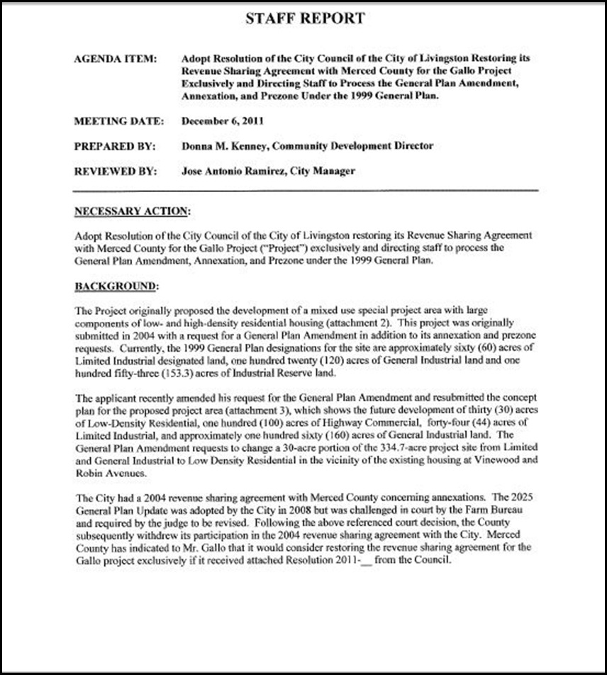 Resolution of the city council of the city of livingston restoring resolution of the city council of the city of livingston restoring its revenue sharing agreement with merced county for the gallo project exclusively platinumwayz