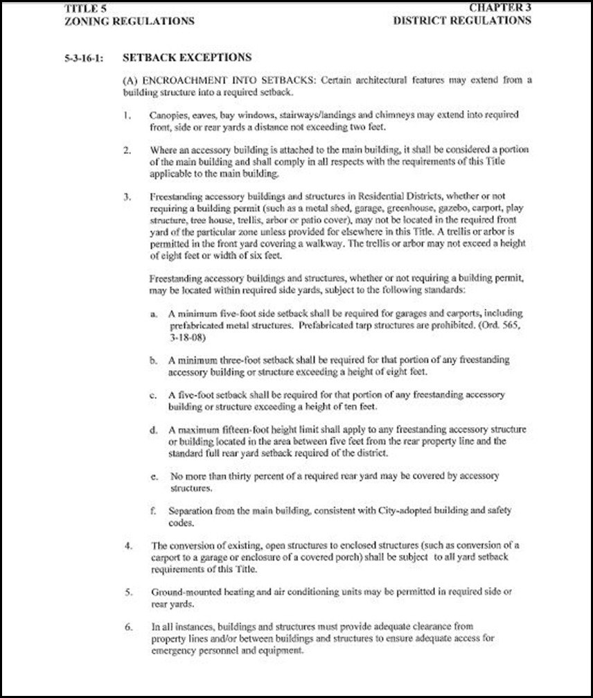 Set Back Page 10 - 18