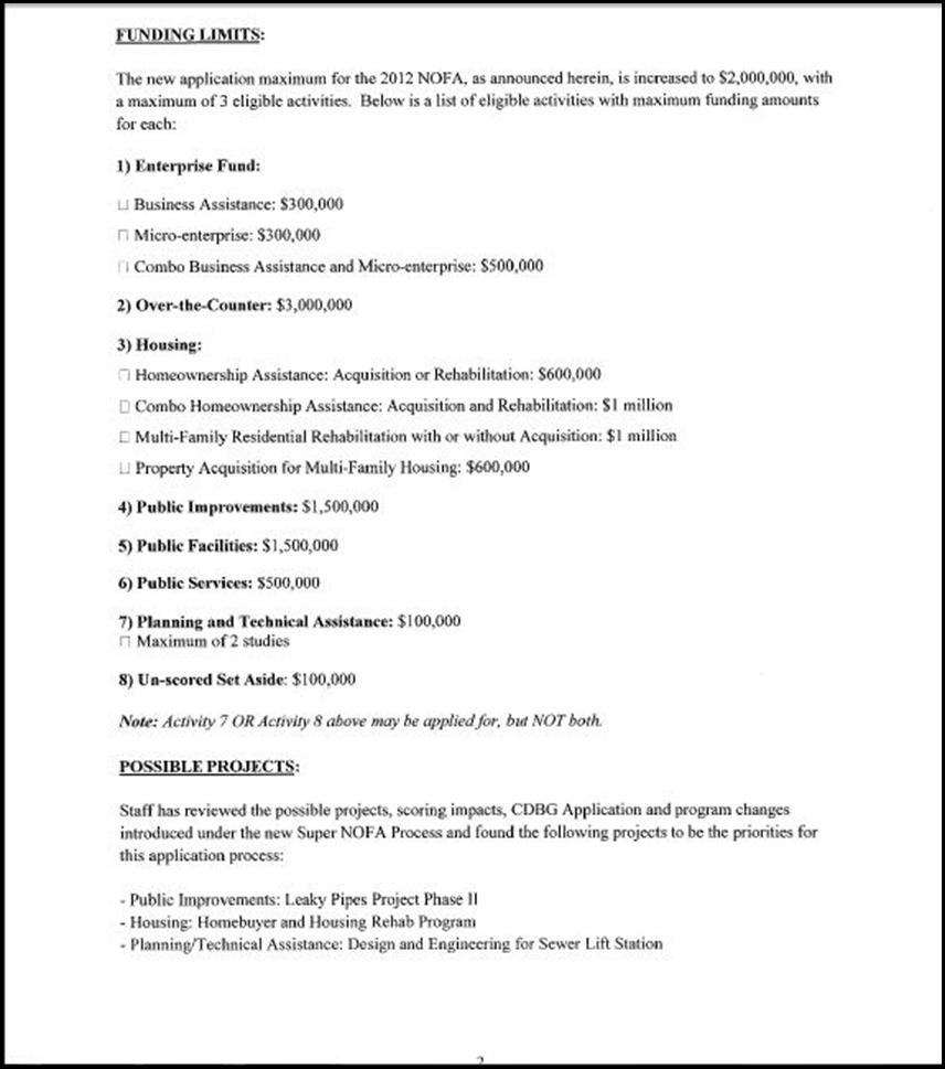 2012 CDBG Application page 2