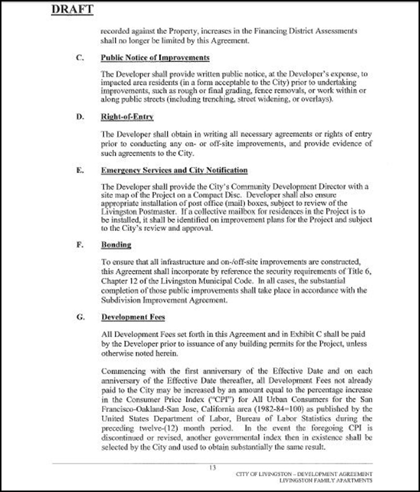 Development Agreement Page 13
