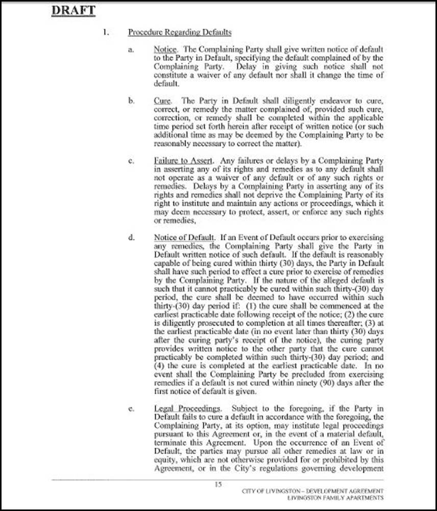 Development Agreement Page 15