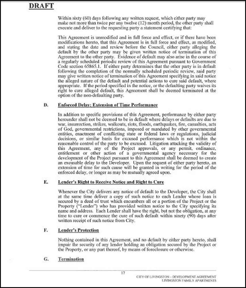 Development Agreement Page 17