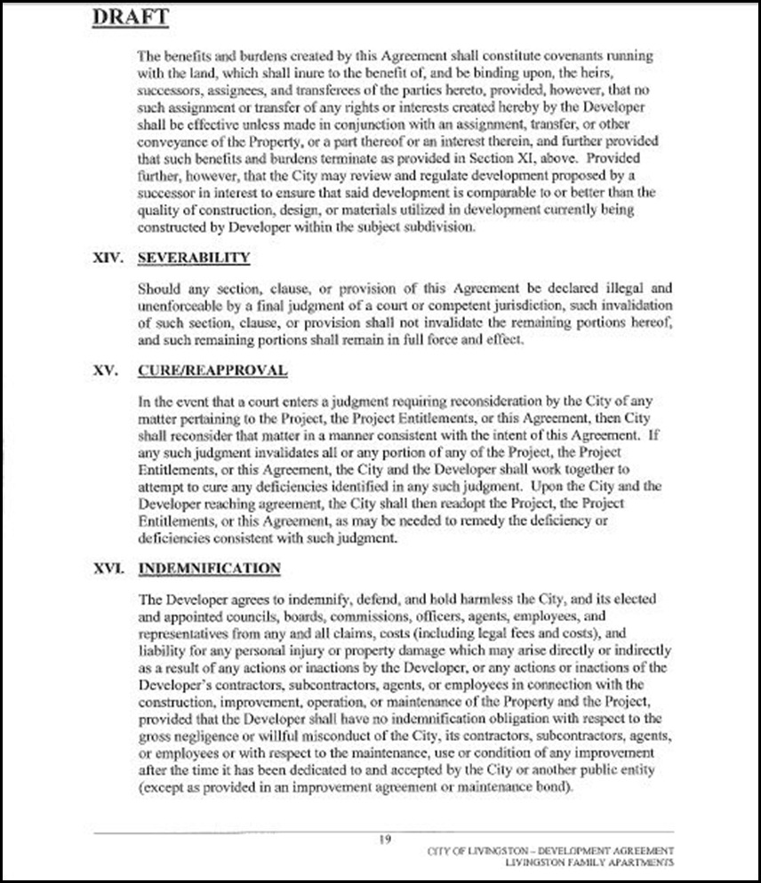 Development Agreement Page 19