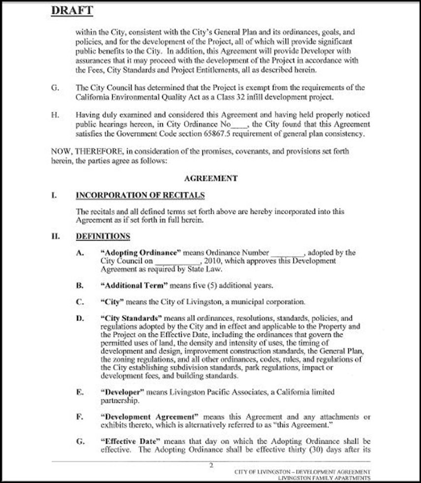 Development Agreement Page 2