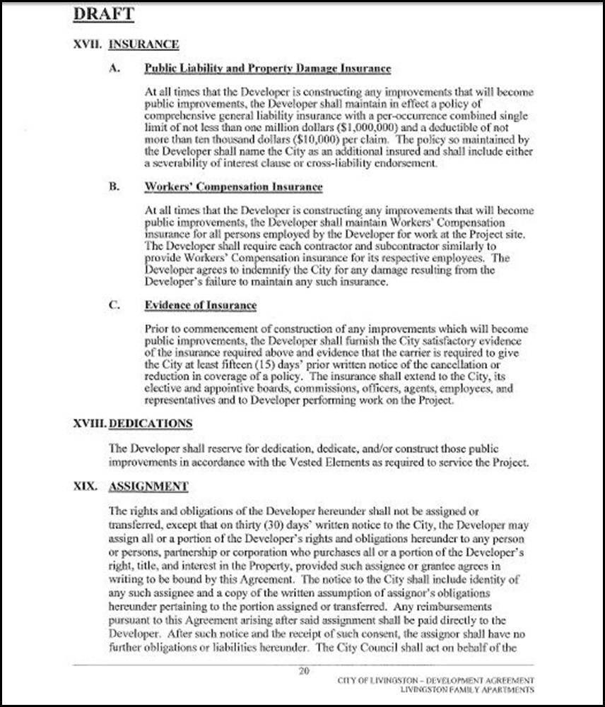 Development Agreement Page 20