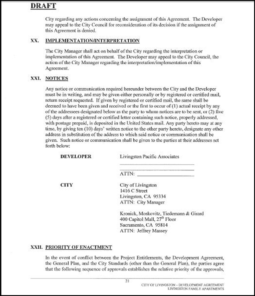 Development Agreement Page 21