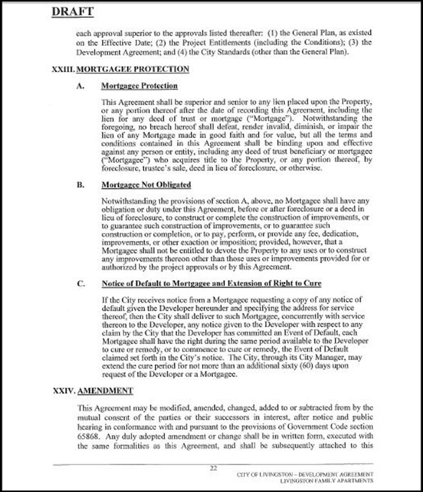 Development Agreement Page 22