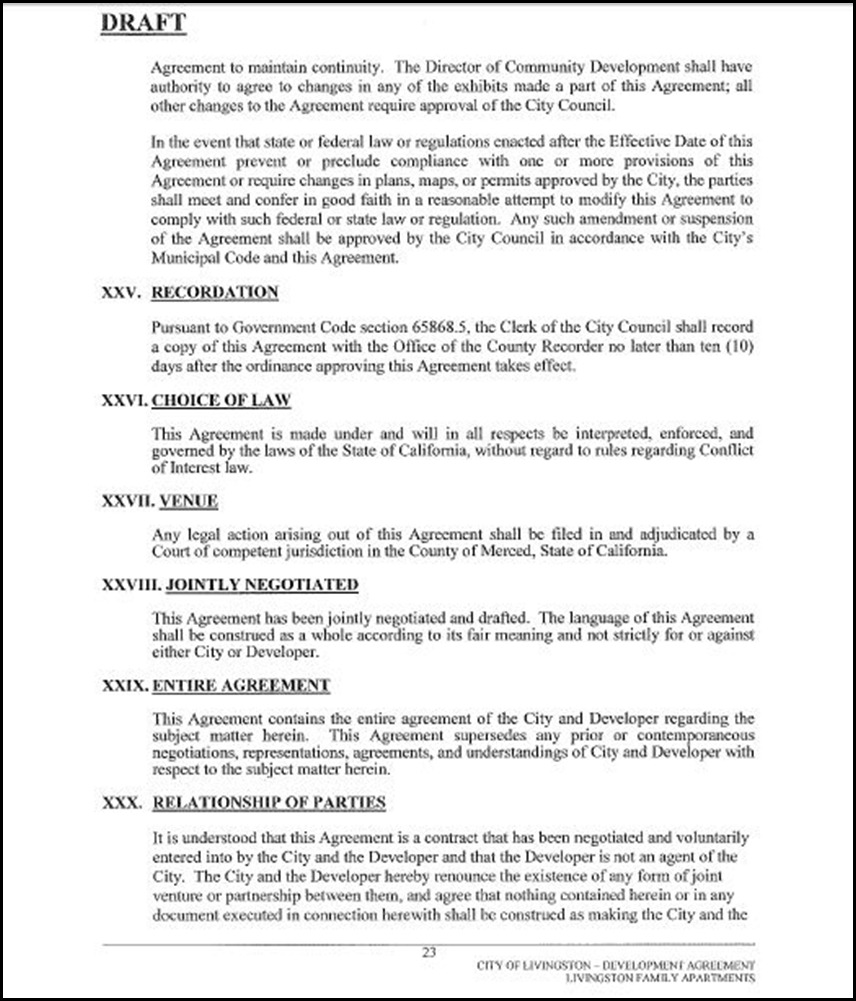 Development Agreement Page 23