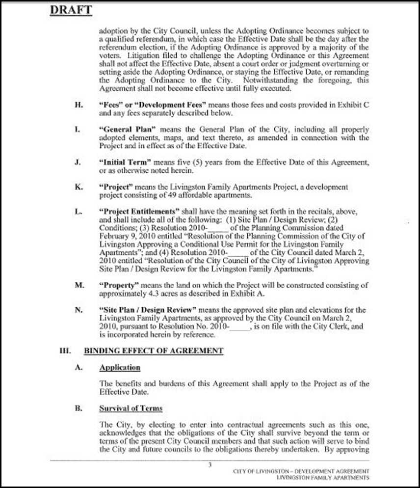 Development Agreement Page 3