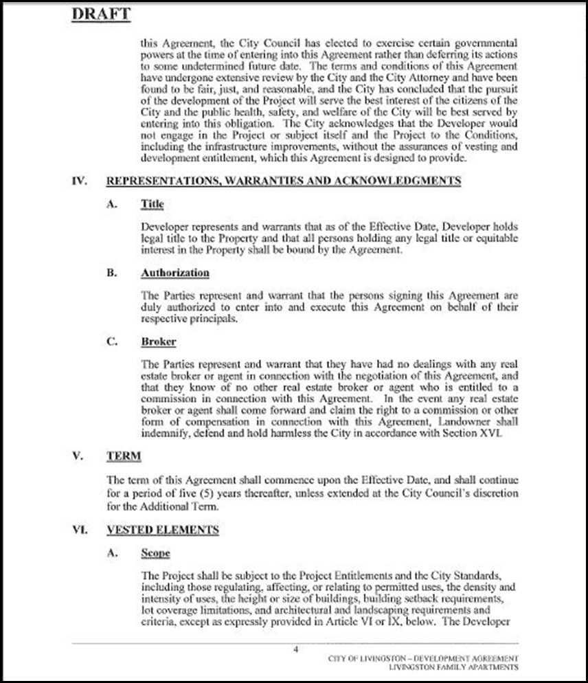 Development Agreement Page 4