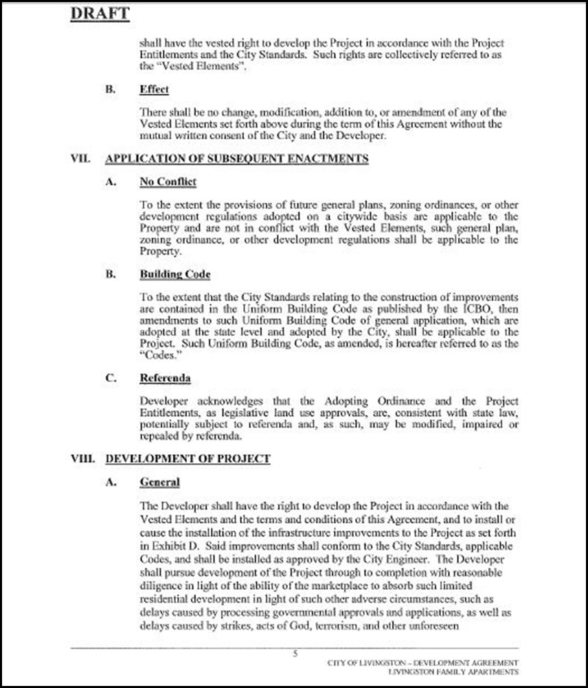 Development Agreement Page 5