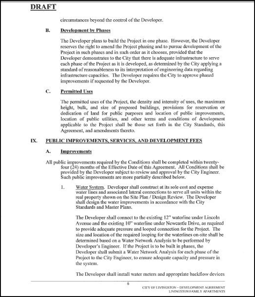 Development Agreement Page 6