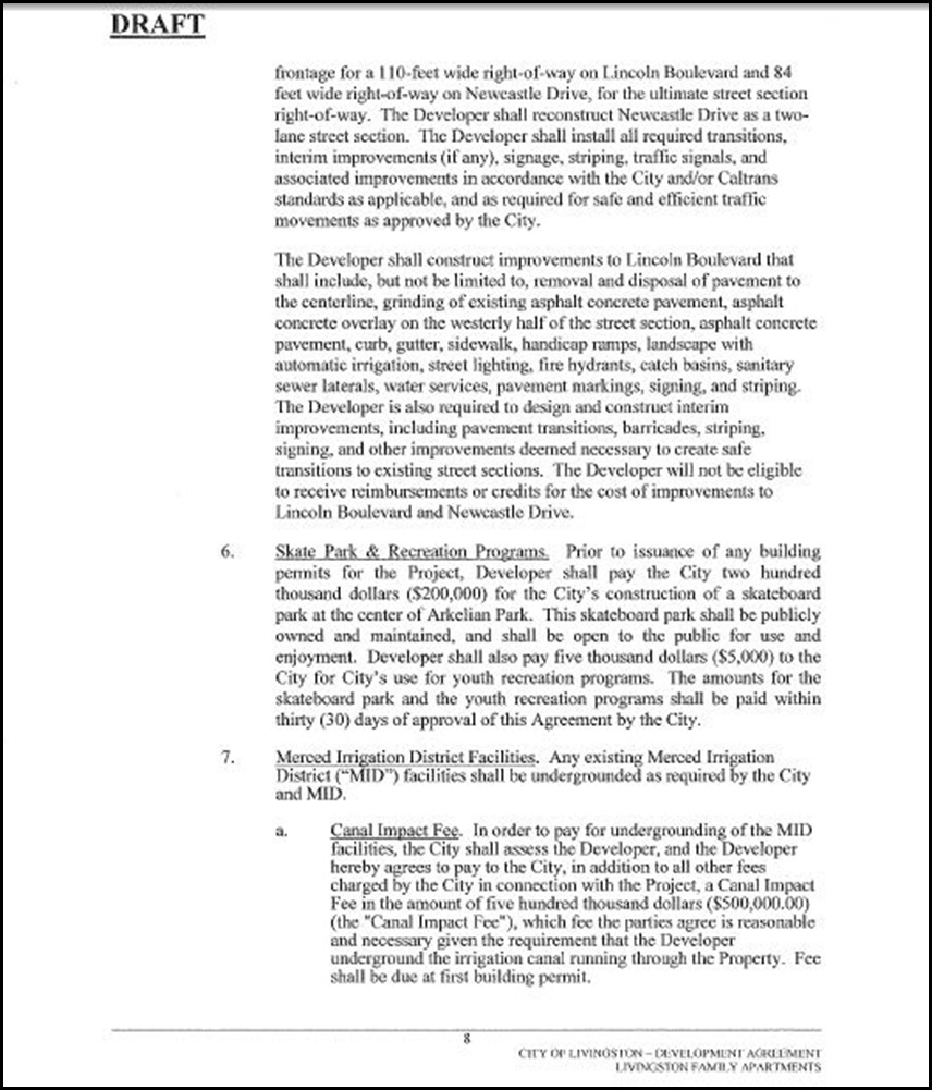 Development Agreement Page 8