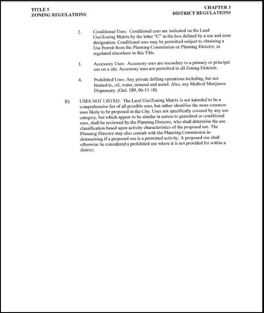 Setback Amendment Page 10-7