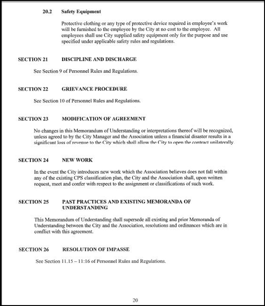 Clerical Employees Association Page 5-20