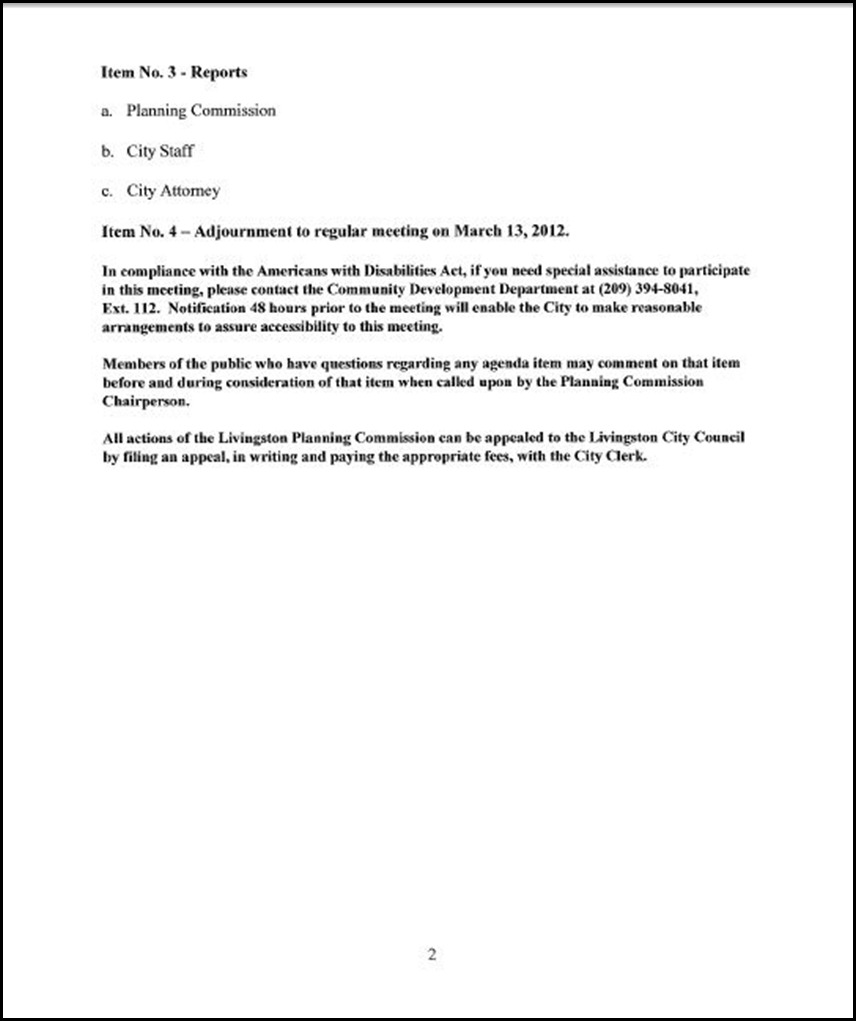 March 5th Special Meeting Page 2