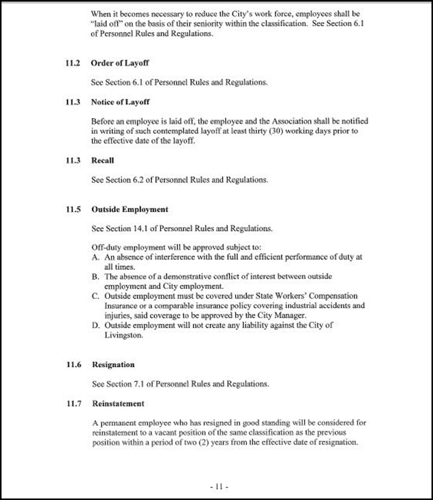 MOU-Management-Confidential Employees Page 4-11