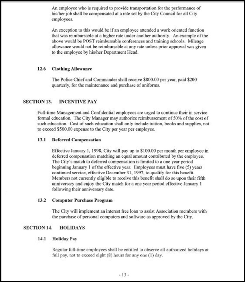 MOU-Management-Confidential Employees Page 4-13