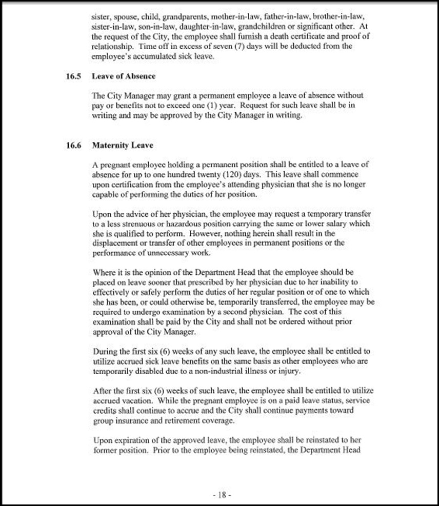 MOU-Management-Confidential Employees Page 4-18