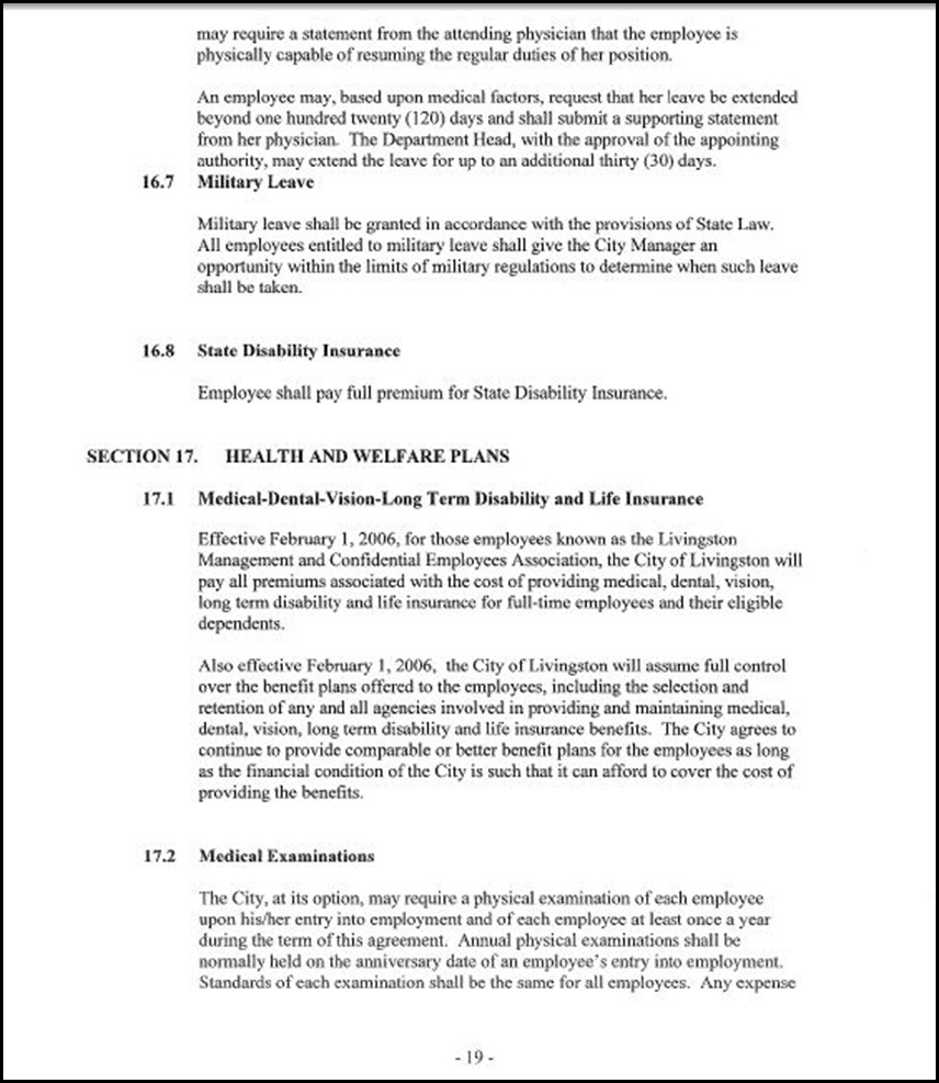 MOU-Management-Confidential Employees Page 4-19