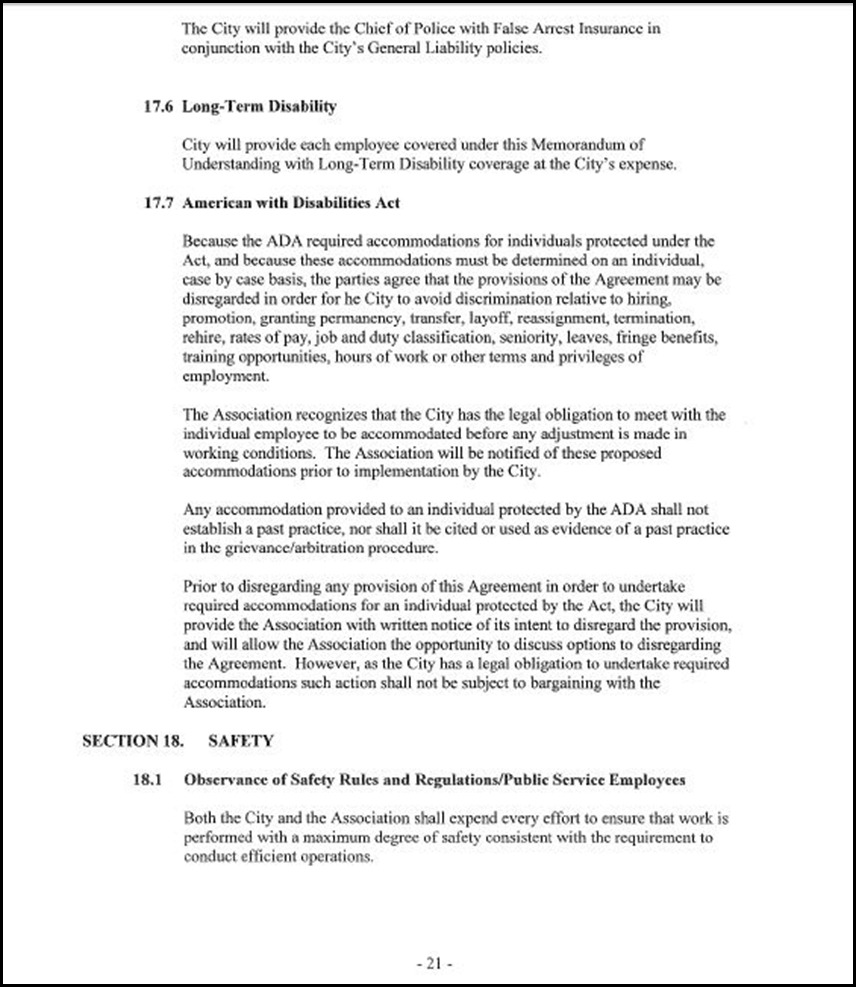 MOU-Management-Confidential Employees Page 4-21